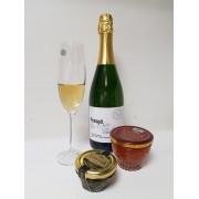 Pezsgő kézműves Chardonnay fehér nyerspezsgő Kálna Pince 750ml