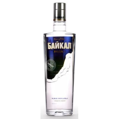 Vodka Bajkal díszcsomagolásban 3 db pohárral 0,7L 40% alc