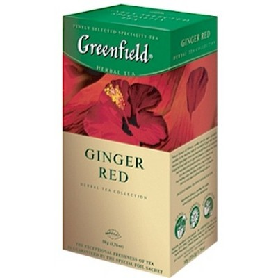 Tea Greenfield Ginger Red 25x2g