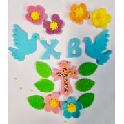 Húsvéti kalács dekoráció cukormázból