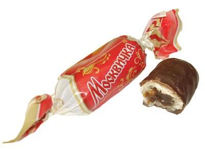 Karamella bonbon csoki bevonatban Moszkvicska 100g