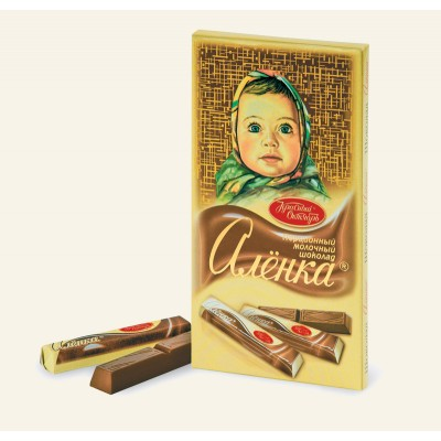 Csokoládé Aljonka porciós, sűrített tejjel 100g