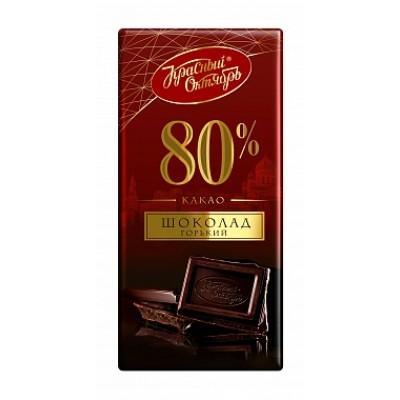 Étcsokoládé Krasznij Oktjabr 80% kakao, 75 gr